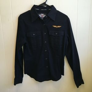 NEW WITH TAGS HARLEY DAVIDSON BUTTON FRONT SHIRT